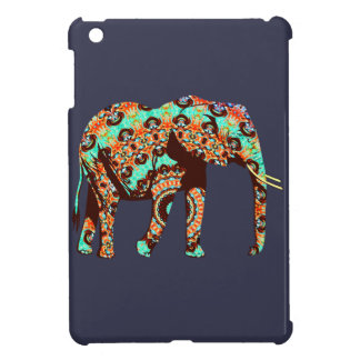Elephant Tribal and Pop Fusion Watercolor Artwork Cover For The iPad Mini