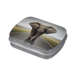 Elephant Trucker Candy Tin