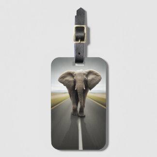 Elephant Trucker Luggage Tag