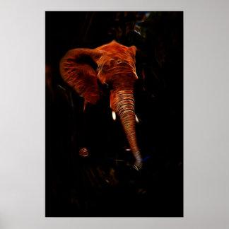 Elephant trunk poster