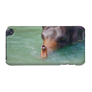 Elephant Trunk Up In Water, Animal Photography iPod Touch (5th Generation) Covers