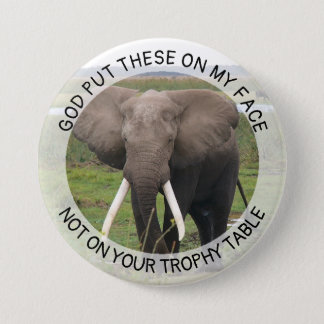 Elephant Tusks Anti Trump Button