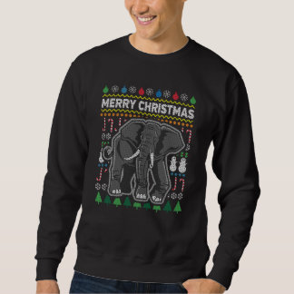 Elephant Ugly Christmas Sweater Wildlife Series