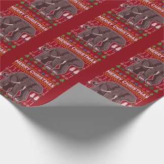 Elephant Ugly Christmas Sweater Wildlife Series Wrapping Paper