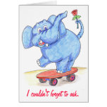 Elephant Valentines Card Will you be my Valentine?