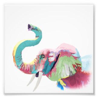 Éléphant vibrant coloré à la mode impressionnant photos