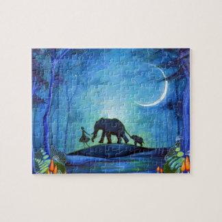 Elephant Walk Jigsaw Puzzle