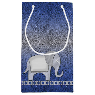 Elephant Walk Monogram Silver ID390 Small Gift Bag