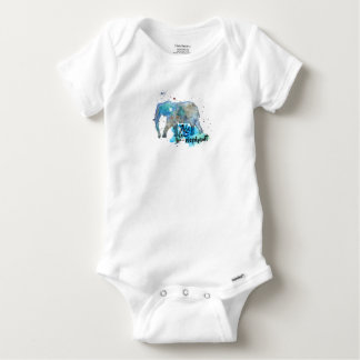 Elephant Water Color Baby Onesie