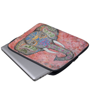 Elephant Watercolor Art Laptop Sleeve