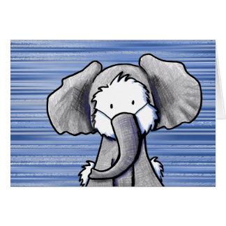 Elephant Westie Terrier Card
