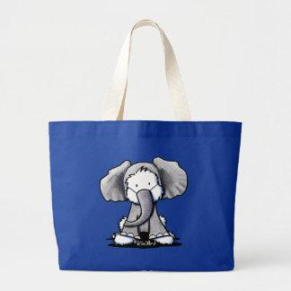 Elephant Westie Terrier Large Tote Bag