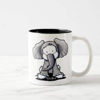 Elephant Westie Terrier Two-Tone Coffee Mug