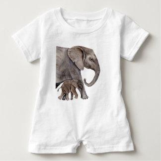Elephant with Baby Elephant Baby Romper