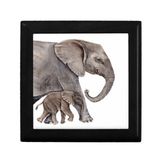 Elephant with Baby Elephant Gift Box