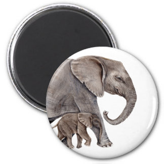 Elephant with Baby Elephant Magnet