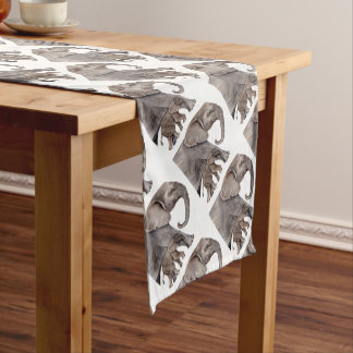 Elephant with Baby Elephant Short Table Runner