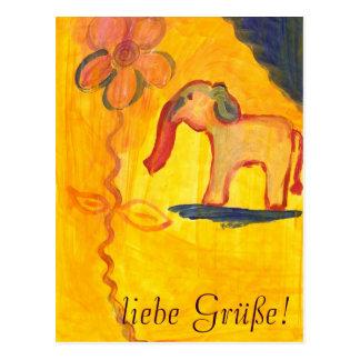elephant with flower of Lola mono Postcard