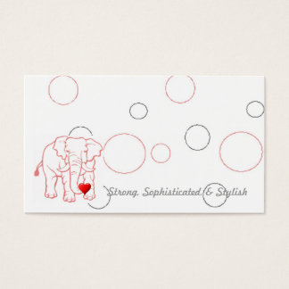 Elephant with heart business card
