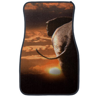 Elephant with Sunset Car Mat