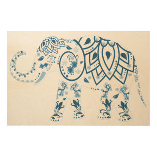 Elephant Wood Wall Art