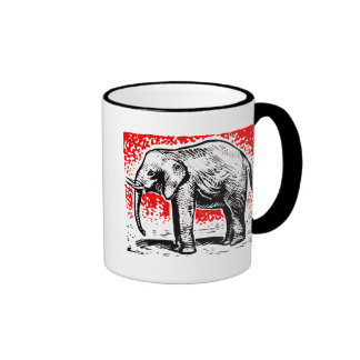 Elephant Woodcut Mugs