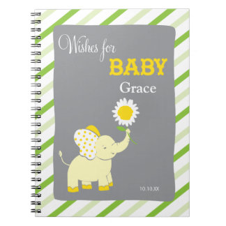 Elephant  |  Words of Advice Baby Shower Notepad Notebooks