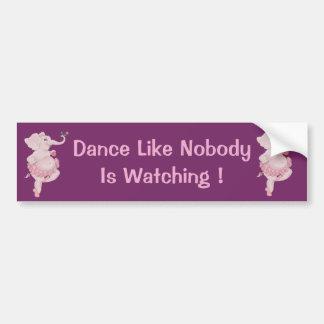 Elephantina Ballerina Bumper Sticker