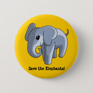 Elephants 2 Inch Round Button