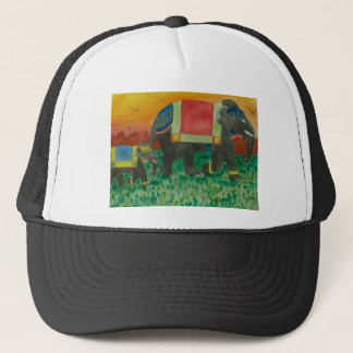 Elephants after the parade trucker hat