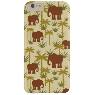 Elephants And Palms In Camouflage Barely There iPhone 6 Plus Case