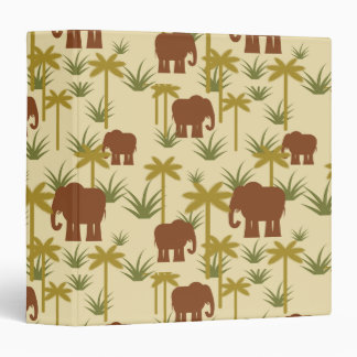 Elephants And Palms In Camouflage Binders