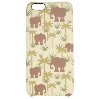 Elephants And Palms In Camouflage Clear iPhone 6 Plus Case