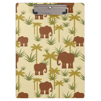 Elephants And Palms In Camouflage Clipboard