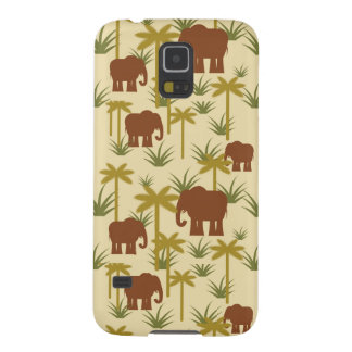 Elephants And Palms In Camouflage Galaxy S5 Cover
