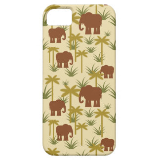 Elephants And Palms In Camouflage iPhone 5 Cases