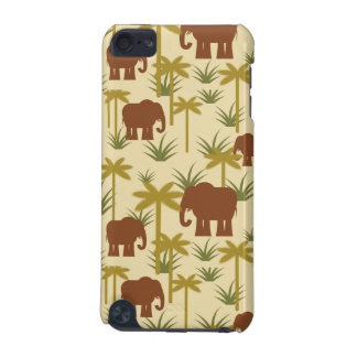 Elephants And Palms In Camouflage iPod Touch 5G Covers