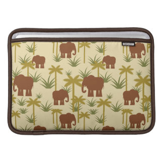 Elephants And Palms In Camouflage MacBook Sleeve