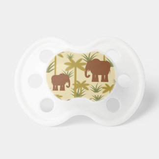 Elephants And Palms In Camouflage Pacifier