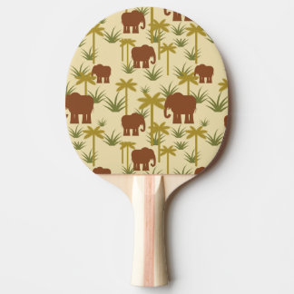 Elephants And Palms In Camouflage Ping-Pong Paddle