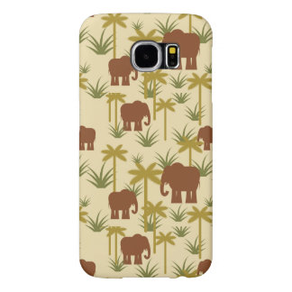 Elephants And Palms In Camouflage Samsung Galaxy S6 Cases