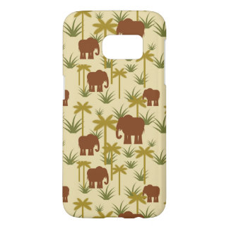 Elephants And Palms In Camouflage Samsung Galaxy S7 Case