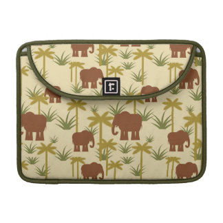 Elephants And Palms In Camouflage Sleeves For MacBooks