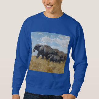 elephants animals Africa safari Sweatshirt