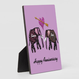 Elephants Anniversary Personalized Plaque