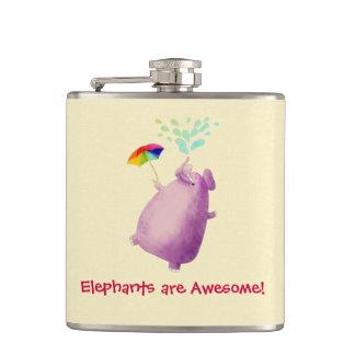 Elephants are Awesome Hip Flask