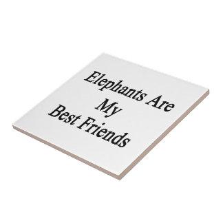 Elephants Are My Best Friends Tile