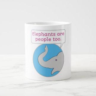 Elephants are People Too Large Coffee Mug
