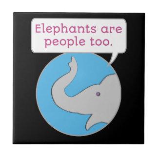 Elephants are People Too Tile