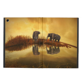 Elephants At Sunset, iPad Air Case